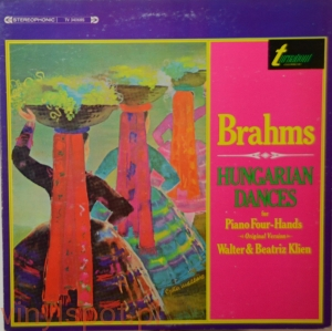 Brahms, Hungarian Dances for Piano Four-Hands, Walter&Beatriz Klien