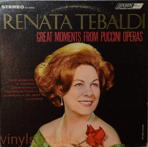 Puccini, Great Moments from Puccini Operas, Renata Tebaldi