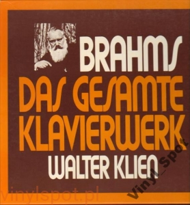 BRAHMS Utwory na fortepian KLIEN komplet 6 LP